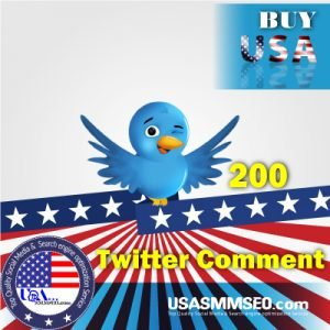 Buy USA 200 Twitter Comments