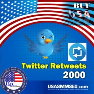 Buy USA 2000 Twitter Retweets