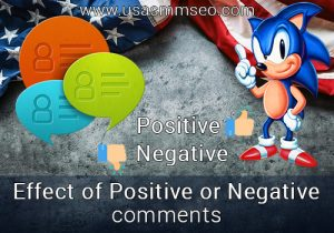 Effect of Positive or Negative comments